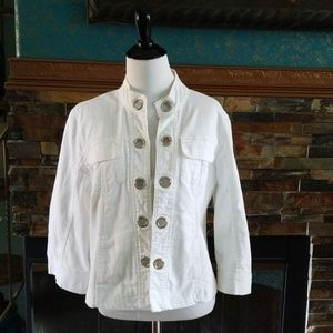 Women's White Denim Jacket